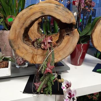 florale Treibholz Skulptur