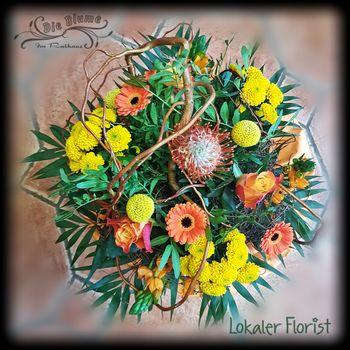 Blumenstrauß in orange/gelb
