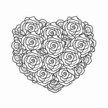 Herz aus Rosen klein